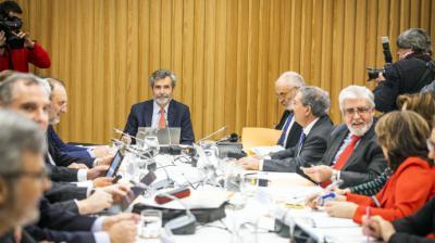 El presidente del CGPJ y del Tribunal Supremo, Carlos Lesmes, preside un pleno.EUROPA PRESS