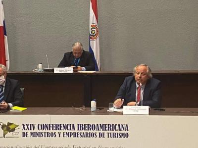 Miguel Mirones en la Conferencia Iberoamericana de Ministros y Empresarios de Turismo