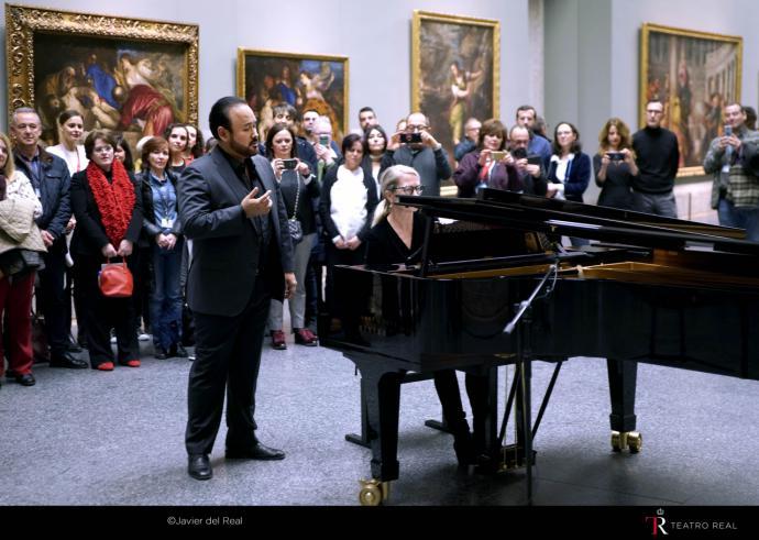 El Teatro Real felicita al Museo del Prado con la voz del cantante mexicano Javier Camarena