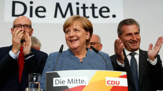Merkel necesita alianzas para gobernar en Alemania