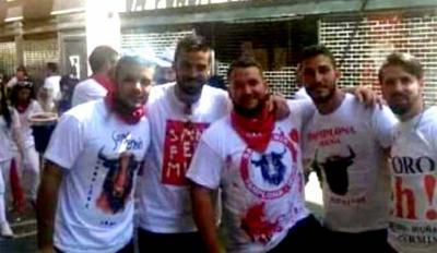 """Los cinco integrantes del """"La Manada""""..."""