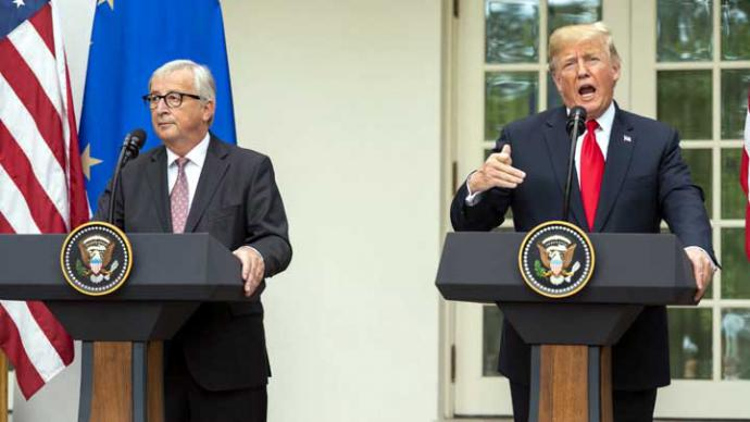 Trump anuncia acuerdo con Juncker para evitar la guerra comercial con la UE