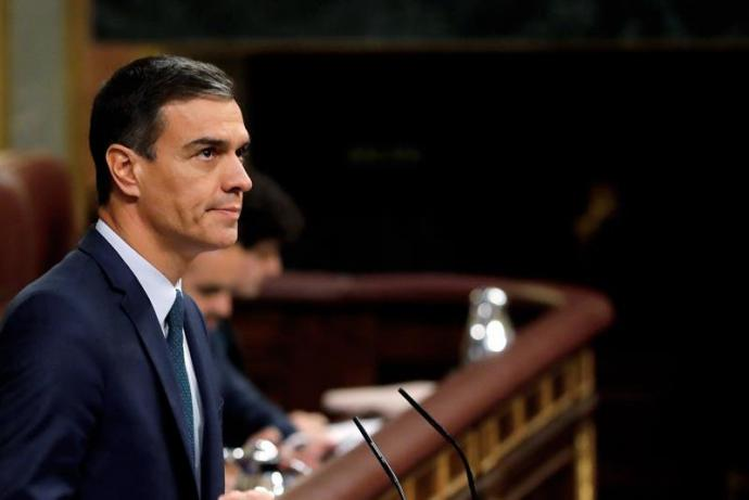 El candidato socialista, Pedro Sánchez
