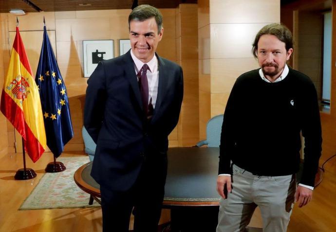 Sánchez e Iglesias, en una reciente reunión en Moncloa