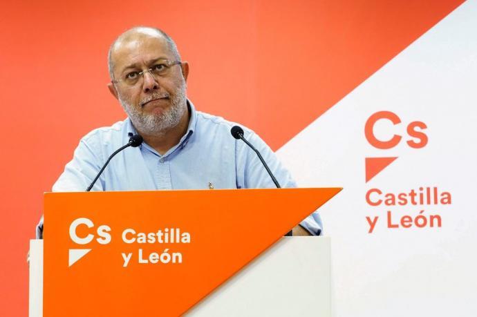 El candidato de Cs en Castilla y León, Francisco Igea, durante una rueda de prensa.