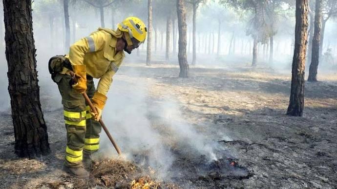 Aumentan efectivos para combatir el fuego en Espacio Natural de Doñana
