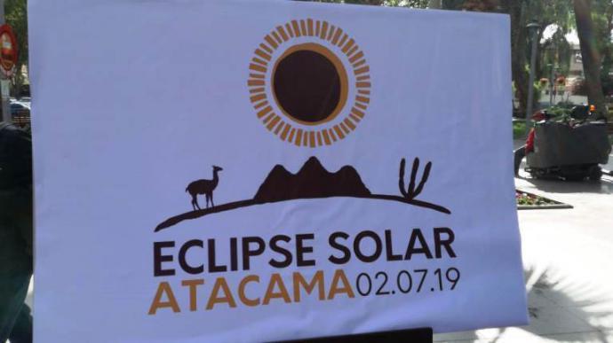 Eclipse solar de Atacama tiene logo oficial y autoridades se preparan para recibir a turistas