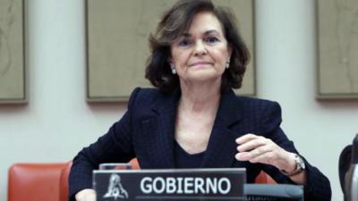 Carmen Calvo, vicepresidenta primera del gobierno