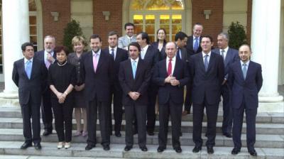 José María Aznar y su gabinete
