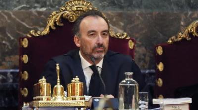El magistrado Manuel Marchena durante el juicio del procésEFE