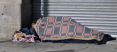 El número de personas que duermen en la calle ha aumentado notoriamente...