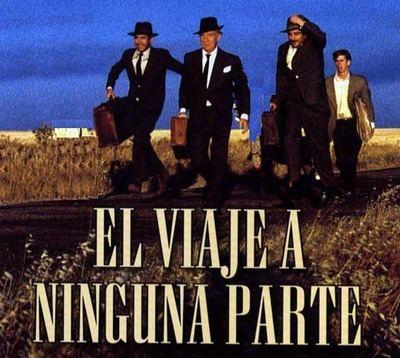 Fotograma de la inolvidable película de Fdo, Fernán Gómez, 'El Viaje a Ninguna Parte'.
