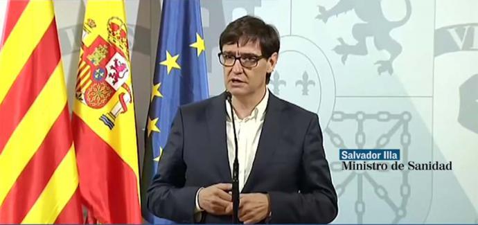 El ministro de Sanidad, Salvador Illa, ha lanzado este sábado un duro aviso a las autoridades madrileñas (Captura de pantalla)