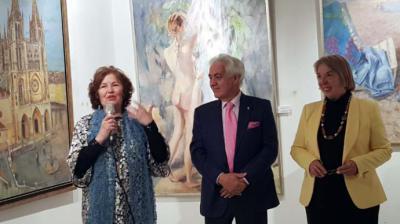 Mercedes Ballesteros inaugura su exposición de pintura y escultura 2000-2018 en el Ateneo de Madrid