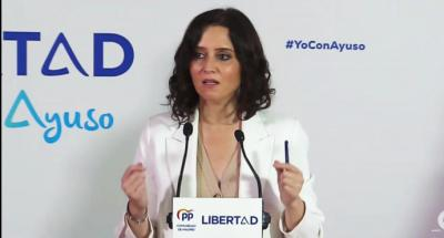 Isabel Díaz Ayuso, (captura de pantalla)