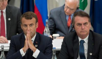 Macron (i) y Bolsonaro en una imagen de archivo...