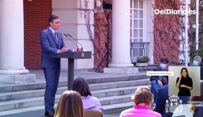 Pedro Sánchez, pdte. del gobierno (captura de pantalla)