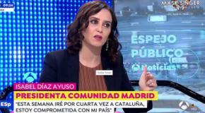 Isabel Díaz Ayuso, presiddenta de la Comunidad de Madrid