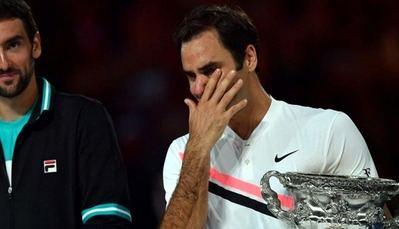 Roger Federer se emociona y lloró tras ganar Abierto de Australia