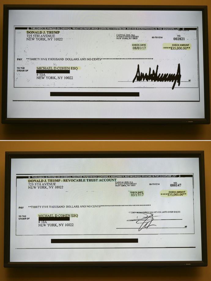 Michael Cohen presentó un cheque con el que Trump le reembolsó su pago a actriz porno Stormy Daniels.