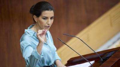 Rocío Monasterio, portavoz de Vox en la Asamblea de Madrid.EUROPA PRESS