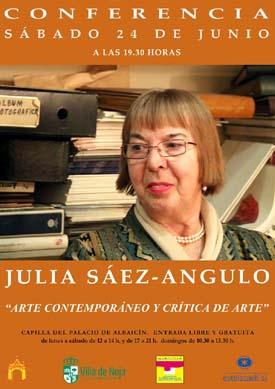 """Julia Sáez-Angulo: Conferencia en SIANOJA sobre """"Concepto de Arte y Crítica de Arte"""""""