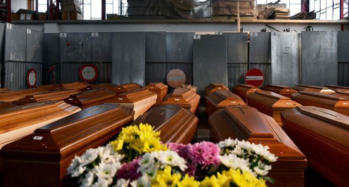 Italia bate su récord de muertes con coronavirus: 919 fallecidos en las últimas 24 horas