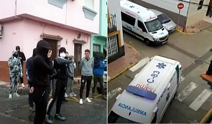 Lanzan piedras a ambulancias que trasladaban a ancianos con coronavirus