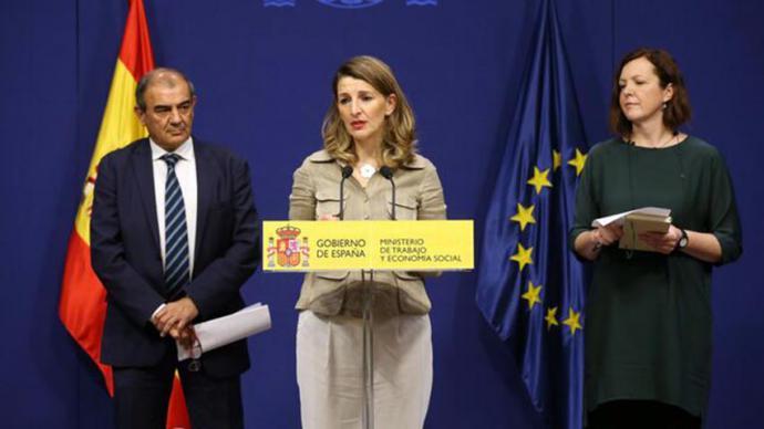 La ministra de Trabajo y Economía Social, Yolanda Díaz, en una imagen de archivo.