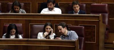 Iglesias y Montero, en el Congreso.
