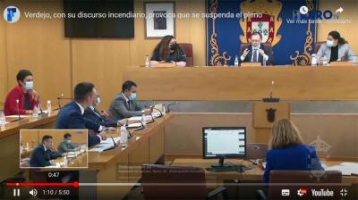 """El portavoz de Vox en la ciudad autónoma, Carlos Verdejo, """"reventó"""" el pleno en Ceuta"""