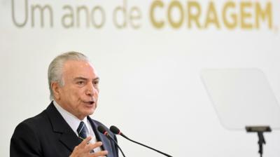 Michel Temer reemplazó en 2016 a la destituida presidenta de izquierda Dilma Rousseff