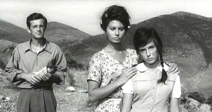 Sofía Loren en el filme 'Dos Mujeres' ganadora de un Oscar