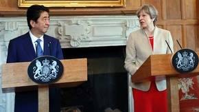 Theresa May y Shinzo Abe también hablaron sobre la decisión de Reino Unido de dejar la Unión Europea (UE)