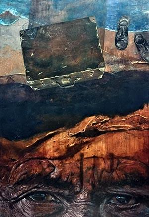 """""""Dos orillas"""" de Conrado Díaz Ruiz, primer premio de la Bienal Regional de Artes Plásticas Santa Cruz de Tenerife 2019"""