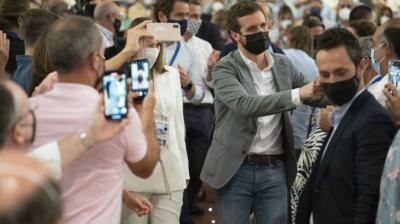 Casado y García Egea, el pasado fin de semana en el congreso del PP balear.David Mudarra / PP