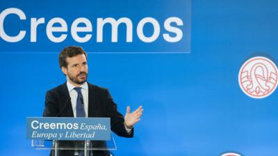 El líder del Partido Popular, Pablo Casado.PP