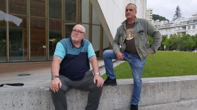 Enrique Pérez Guerra y Emiliano Álvarez Delgado, dos de las víctimas que han participado en la jornada.ELDIARIO.ES/EUSKADI