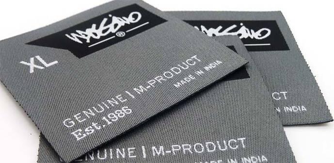 Usos comerciales de las etiquetas tejidas