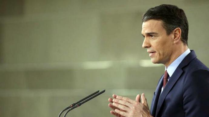 Sánchez anuncia la paralización de la actividad económica no esencial