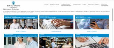 Santa Cruz de Tenerife programa seminarios web gratuitos para desempleados y tejido empresarial