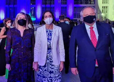 Emma González, Reyes Maroto y Miguel Mirones