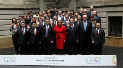 Los ministros de agricultura de los países del G20