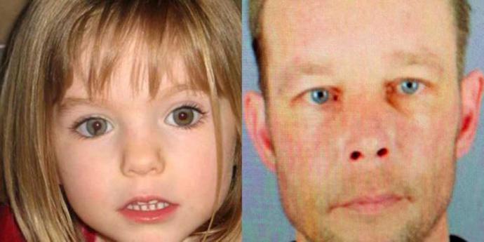 Fotocomposición que muestra a  Christian Brueckner, el principal sospechoso de la desaparición y muerte de la niña Madeleine McCann