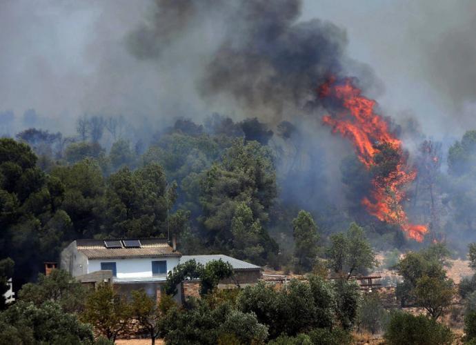 En España se han producido numerosos incendios por las altas temperaturas