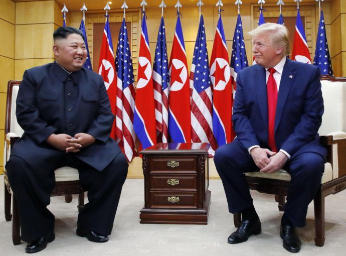 Donald Trump y Kim Jong-un se reunieron en la Casa de la Libertad, en el lado sur de la aldea Panmunjom, en la zona desmilitarizada.