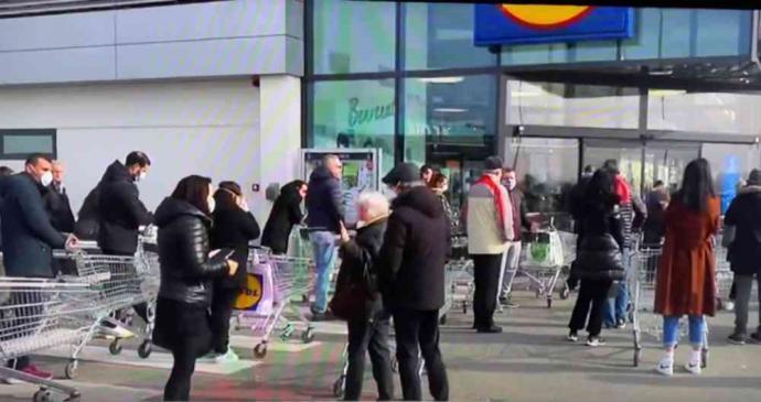 Se han producido incidentes en supermercados y tiendas de alimentación