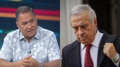 El alcalde de Isla de Pascua Pedro Edmunds Paoa y el ministro de salud Jaime Mañalich