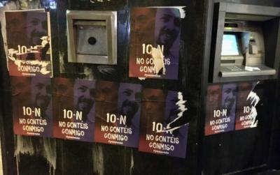 Una campaña opaca de anuncios en Facebook y carteles en la calle promueve la abstención entre votantes de PSOE y Podemos