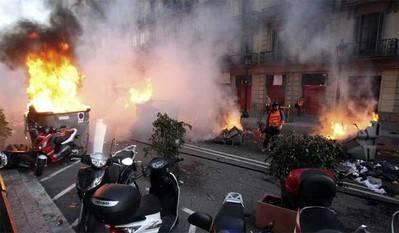 Disturbios en Barcelona el pasado día 1º de octubre